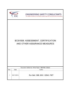 White Paper - IEC61508: Assessment, Certification And Other Assurance Measures