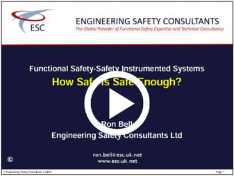 How Safe Is Safe Enough Webinar - Functional Safety Training - Engineering Safety Consultatns