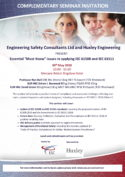 Essential Must Know issues in applying IEC 61508 and IEC 61511 - Seminars 2018