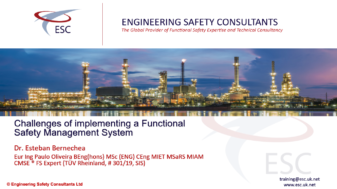 Challenges of Implementing a Functional Safety Management System Webinar - Engineering Safety Consultants